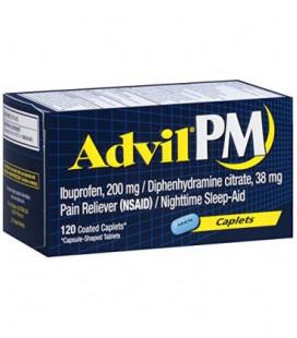 Advil anti douleur / aide pour dormir, Ibuprofene et Diphenhydramine (120 comprimés)