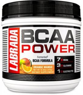 LABRADA NUTRITION BCAA en poudre avec Glutamine parfum orange-mangue (30 doses)