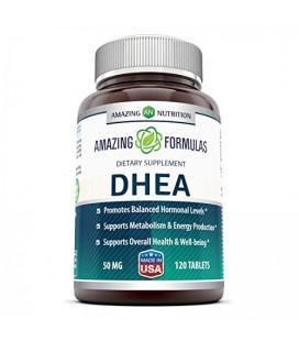 DHEA - 25mg 120 capsules - Déhydroépiandrostérone hormone pour hommes et femmes