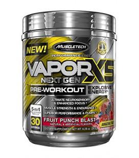 Vapor X5 Next Gen formule pré-entrainement en poudre, Fruit Punch (263 g)