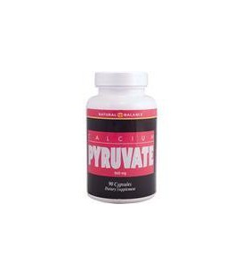 Natural Balance Calcium Pyruvate Capsules, 500 mg,  90 Count