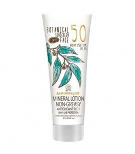 Australian Gold Botanical Sunscreen SPF 50 Tinted Face Mineral Lotion, 3 Fl Oz