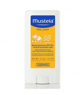 Mustela Broad Spectrum SPF 50-Plus Mineral Sunscreen Stick, 0.5 oz.
