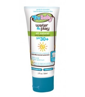 TruBaby Water & Play, Mineral Sunscreen SPF 30, Water Resistant, Broad Spectrum, Unscented, 2 Oz