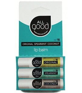 All Good Lips - SPF 15 Lip Balm - 3 Pack Assorted
