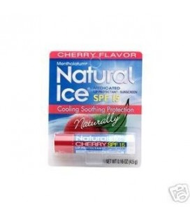 Natural Ice Medicated Lip Protect SPF 15 Cherry 12 Pkgs