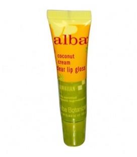Alba Botanica, Clear Lip Gloss, Coconut Cream, 0.42 oz (12 g) - 2pc