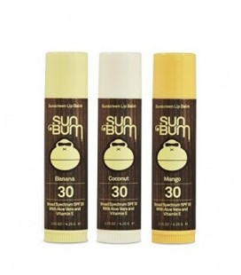 Sun Bum SPF30 Lip Balm Banana, Coconut, Mango 3 Pack by Sun Bum