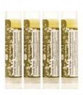 Organic Beauty Products Lip Balm - Certified Organic SPF 30 Candy Stripe Peppermint / Spearmint Lip Balm – 4 Pack - Jing Ai