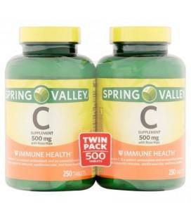 Spring Valley La vitamine C 500 mg Twin Pack