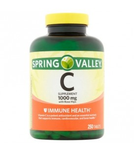 Spring Valley La vitamine C naturelle avec églantier supplément alimentaire 250 ct