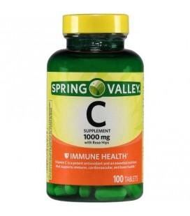 Spring Valley La vitamine C naturelle avec églantier Complément alimentaire 100 ct