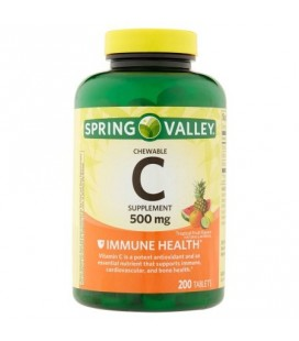 Spring Valley Croquer Vitamine C multiples arômes de fruits Complément alimentaire 200 ct