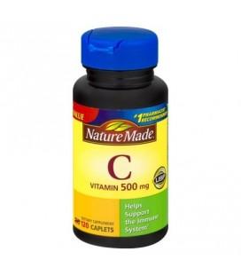 Nature Made Vitamine C caplets de complément alimentaire 500 mg 120 ct