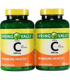 Spring Valley La vitamine C avec des hanches Rose 500 mg 250 Ct Ct 2