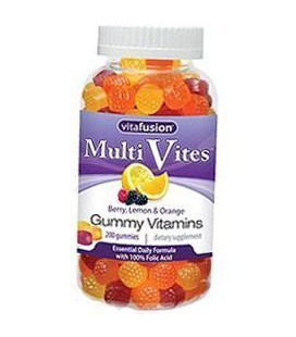 VitaFusion Multi Vites Gummy Vitamins - Berry, Peach, Orange