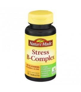 Nature Made B-Complex Stress Complément alimentaire avec la vitamine C et de zinc 75ct