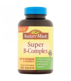 Nature Made Super B-Complex de suppléments alimentaires avec la vitamine C et l'acide folique 360ct