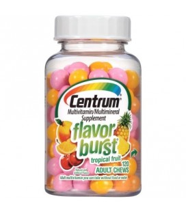 Centrum Saveur Burst Fruit Tropical multivitamines - Supplément adulte Mâche 120 count