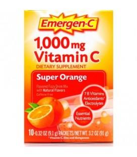 Emergen-C super orange aromatisée 1000mg Vitamine C Complément Drink Mix Fizzy 10 ct
