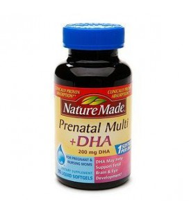 Nature Made Prenatal MultiPlus 200 mg DHA - 90 Liquid Softge