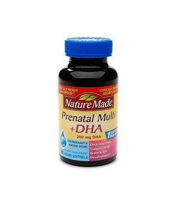 Nature Made Prenatal MultiPlus 200 mg DHA - 90 Liquid Softge