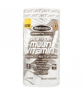 MuscleTech Essential Series Platinum multivitamines Caplets 90 count