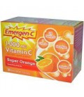 Emergen-C Vitamin C Fizzy Drink Mix, 1000 mg, Super Orange,