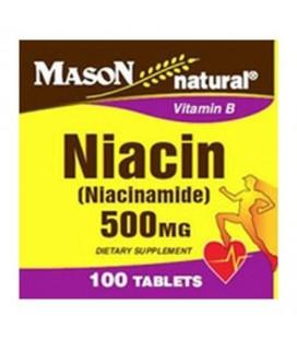 Mason Niacine naturel (nicotinamide) 500 mg de vitamine B3 - 100 comprimésEa