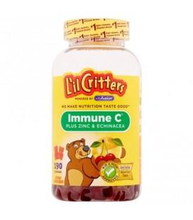 L'il Critters Complément alimentaire immunitaire C Plus Zinc -amp- Echinacea 190 Gummy bears ct