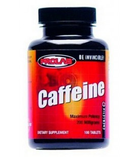 Prolab Caffeine, Maximum Potency, 200 mg, Tablets, 100 table