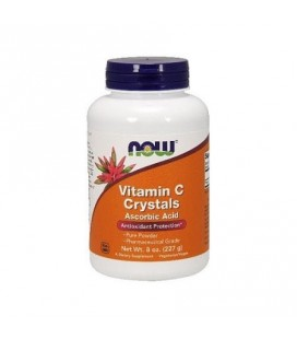 NOW Vitamine C Cristaux 8 oz (s)