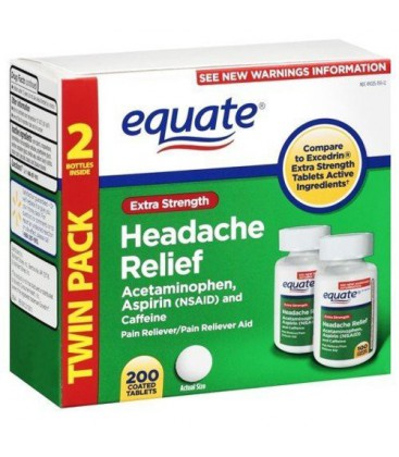 Equate - Headache Relief, Extra Strength, Acetaminophen, Asp