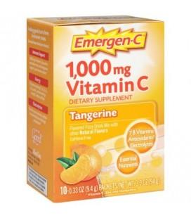 Emergen-C Mandarine Flavored 1000 mg de vitamine C Supplément boisson gazeuse Mix 10 pk