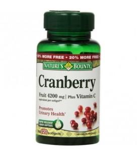 Nature's Bounty Fruit Cranberry 4200 mg et de la vitamine C gélules 120 bis (Paquet de 3)
