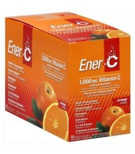 EnerC effervescente en poudre Mélange de boisson la vitamine C 1000 mg Orange CT 30