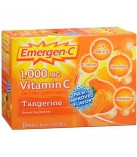 Emergen-C La vitamine C pour boisson Packets mandarine 30 unité (multiple de 2)