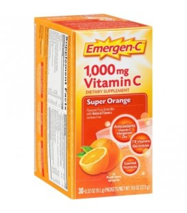 Emergen-C La vitamine C Flavored Drink Mix Fizzy Packets Super Orange 30 ch (Pack de 6)