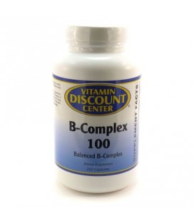 B-Complex 100 par Vitamin Discount Center - 250 capsules de vitamine B