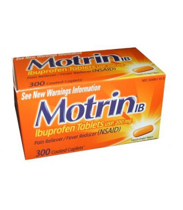 Motrin IB-Ibuprofen Pain Reliever Tablets 200 mg - 300 Coate