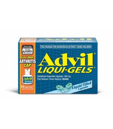 Advil  Liqui-Gels E-Z Open Cap, 120-Count Box