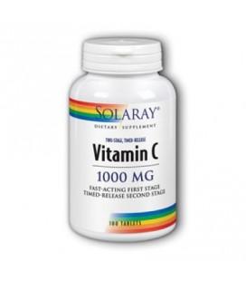 Vitamine C 1000 mg deux étapes 100 Solaray à libération lente