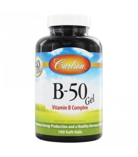 Carlson Labs - B50 Gel vitamine B complexe - 100 Gélules