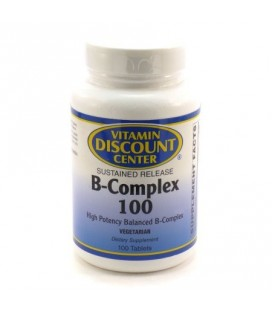 B-Complex 100mg Action Progressive - Vitamin Discount Center - 100 comprimés de vitamine B