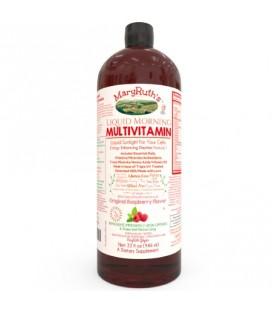 BIO multivitamines MATIN LIQUIDE par MARYRUTH (framboise) haute pureté Ingrédients organiques vitamines ABC D3 E minéraux et