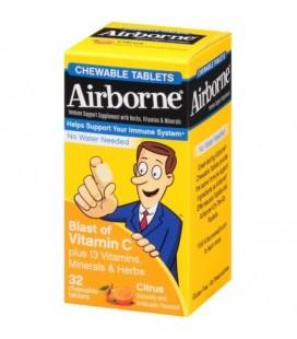 Airborne Soutien immunitaire Supplément explosion de la vitamine C comprimés à croquer les agrumes 32 ch (Lot de 3)