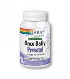 Une fois par jour prénatal Solaray 90 vcaps
