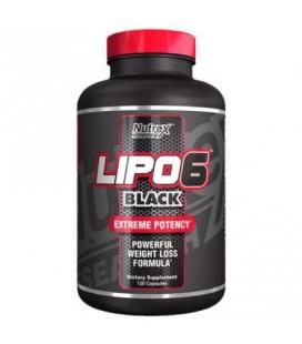 Nutrex Lipo 6 Black Extreme Potency- Formule de perte de poids puissant (120 Capsules)