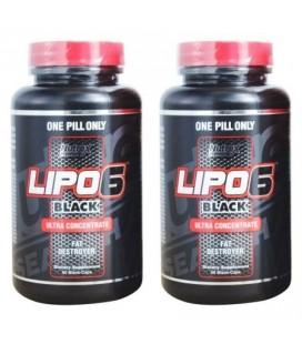 Nutrex Research Lipo-6 Black Ultra concentré perte de poids supplément 2 bouteilles 120 ct au total