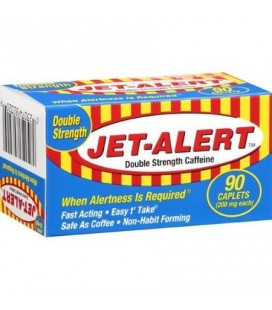 Jet-Alert Double Force caféine 20 mg Caplets 90 Ct